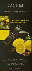 Chocolat noir au citron et poivre noir
